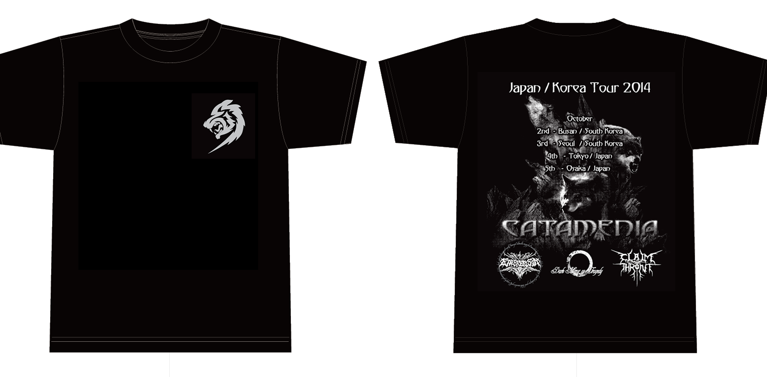 91b9b80f7537 CATAMENIA Japan Korea Tour T-Shirt - Mono   L